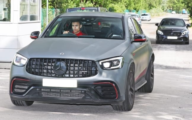 See New Looks of Man United Players as the arrive with Latest Cars
