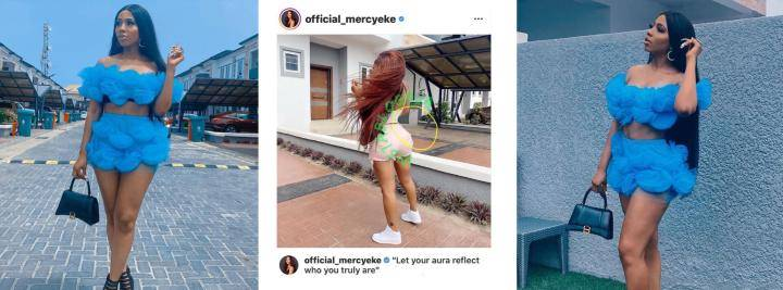 See Reactions After BBNaija's Mercy Was Caught Photoshopping Her Backside