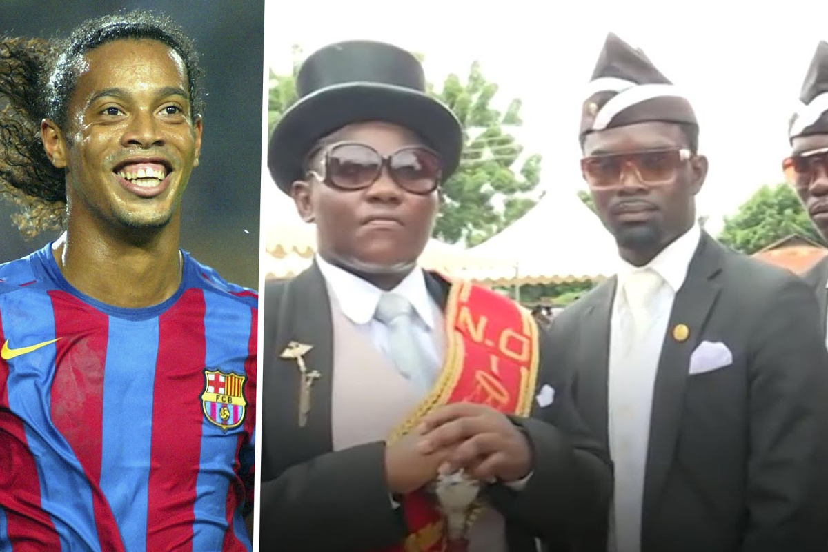 Coffin dance pallbearer picks Ronaldinho as the footballer he would like to carry to their grave