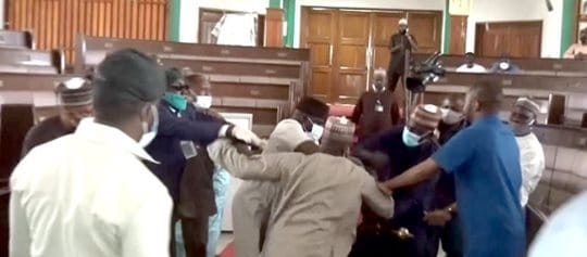 Drama as Assembly Members Exchange Blows Over Speakers's Impeachment