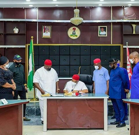 Governor Uzodinma Signs New Criminal Bill in Imo State (Photos)