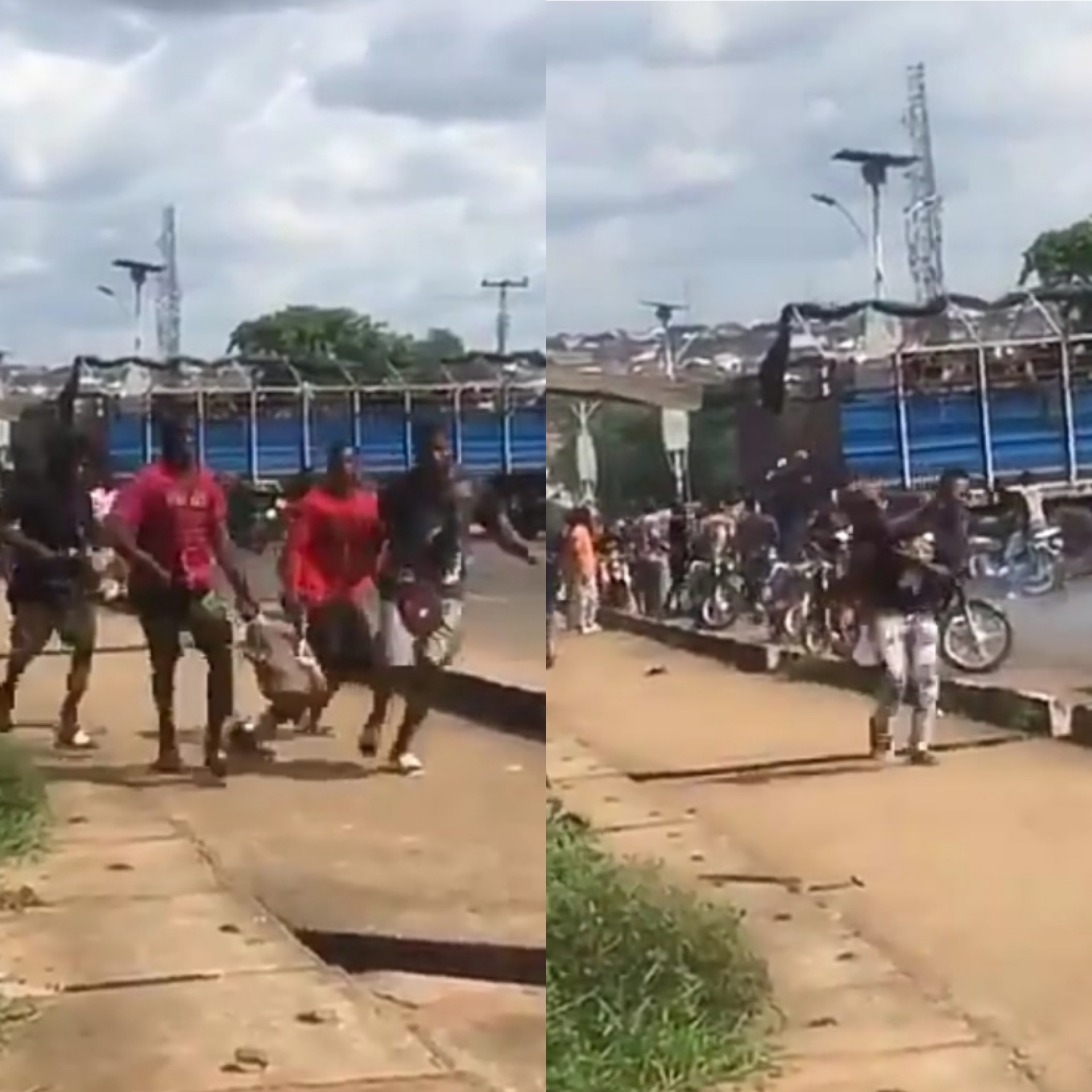 Hungry youths runaway with Goats from truck in Delta (Video)