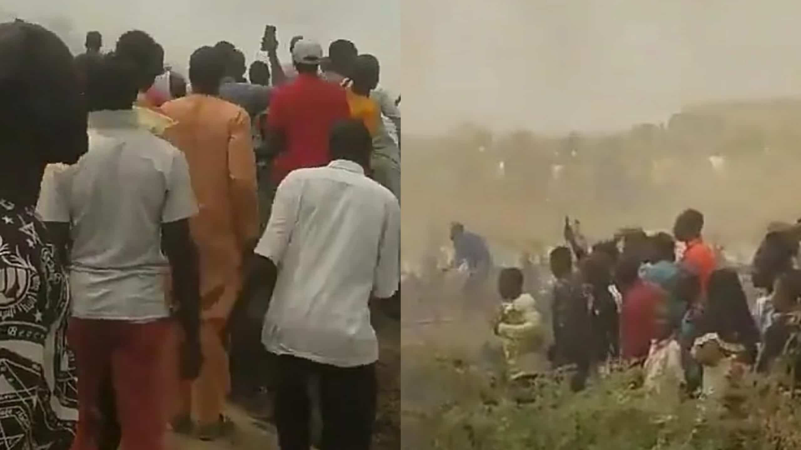 A plane crash has occurred in Abuja it is fatal (Video)